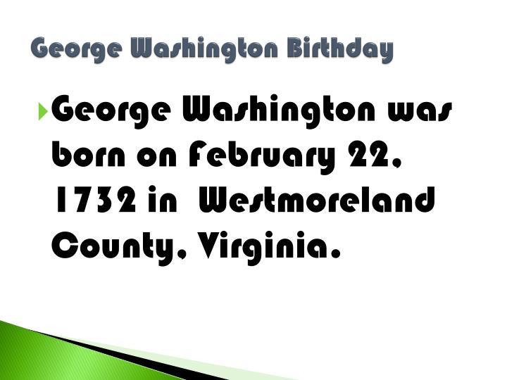 George Washington Birthday