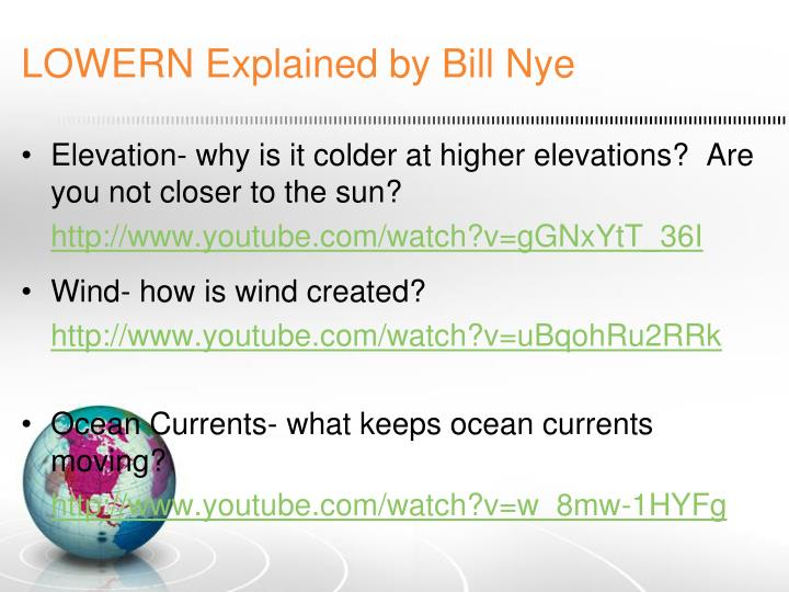 LOWERN Explained by Bill Nye