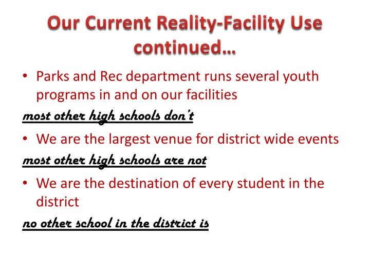 Our Current Reality-Facility