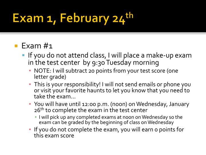 Exam 1,