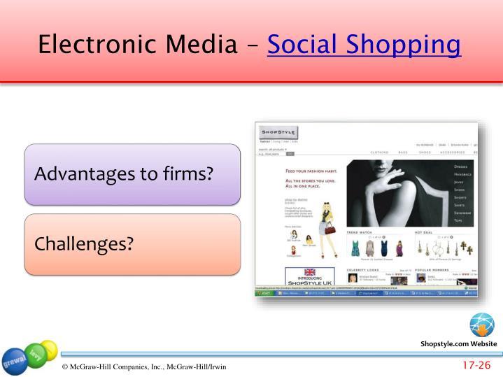 Electronic Media –