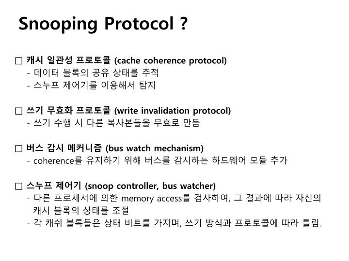 Snooping protocol1