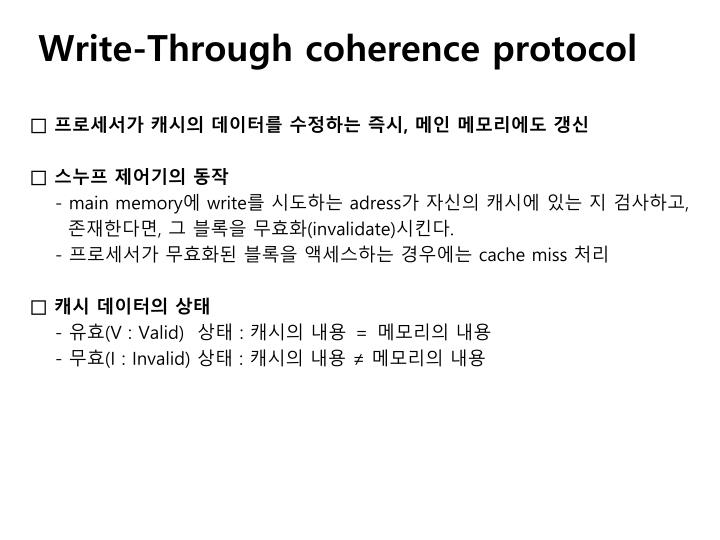 Write-Through coherence protocol