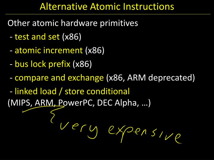 Alternative Atomic Instructions