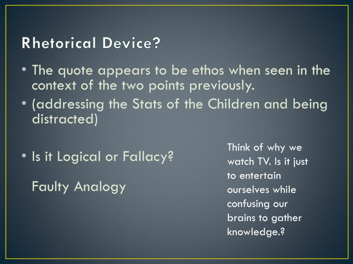 Rhetorical Device?