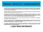 terreno proyecto y financiamiento