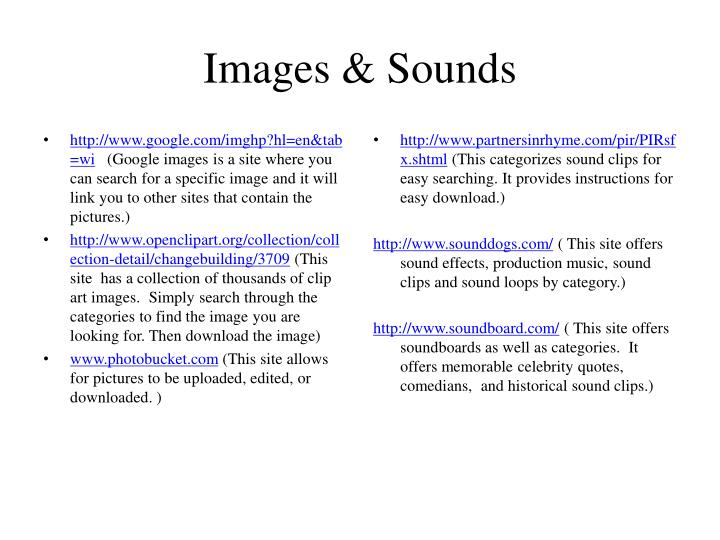 Images & Sounds
