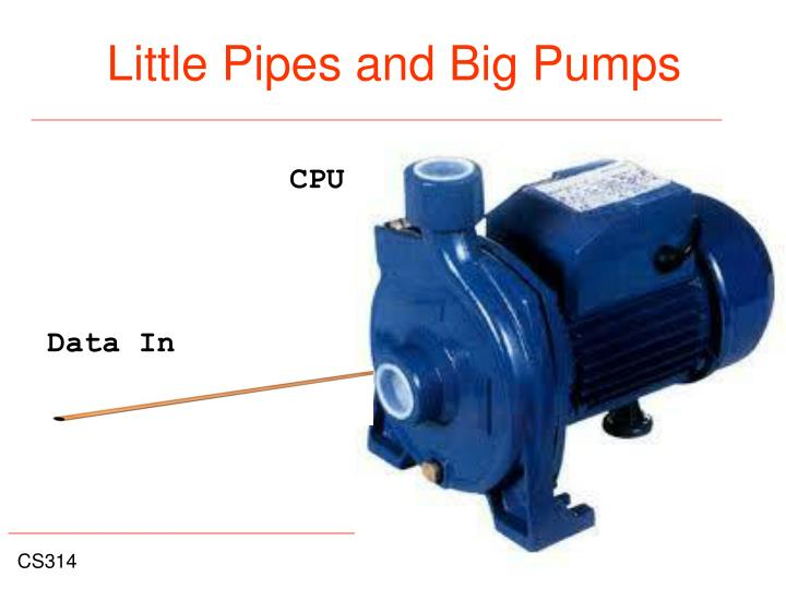 Little Pipes and Big Pumps