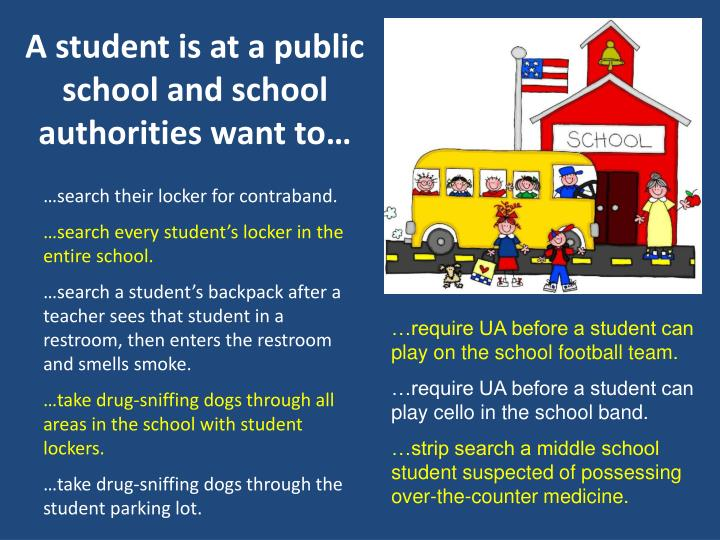 A student is at a public school and school authorities want to…