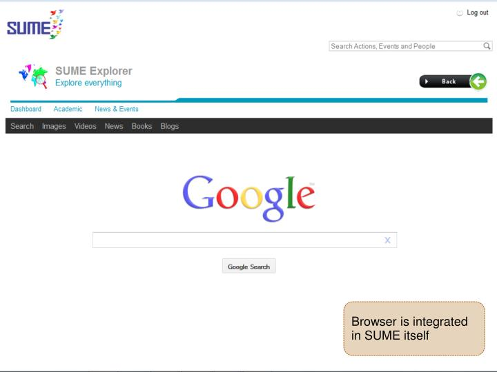 Browser is integrated in SUME itself