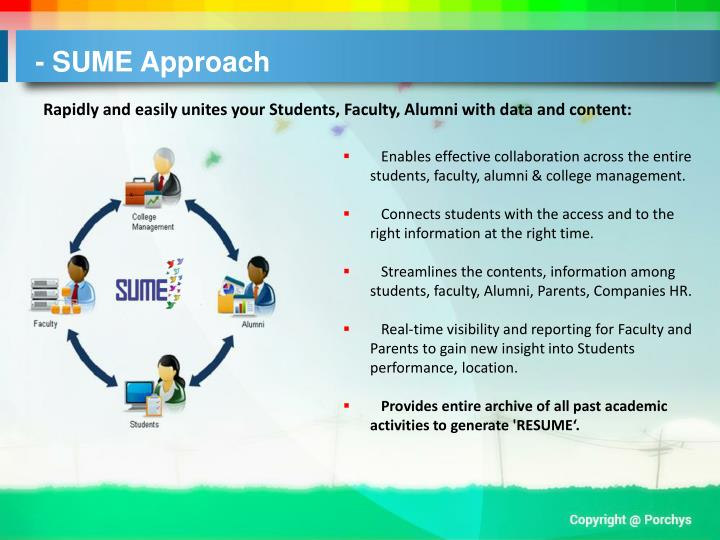 - SUME Approach