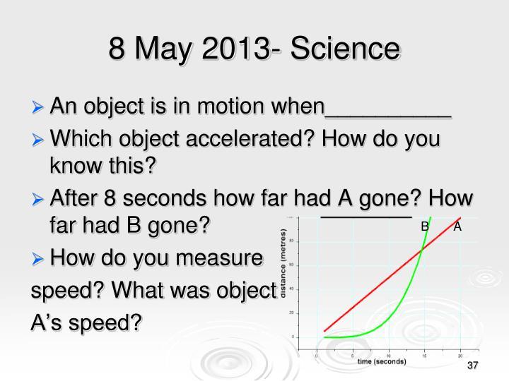 8 May 2013- Science