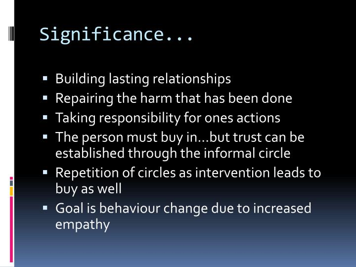 Significance...