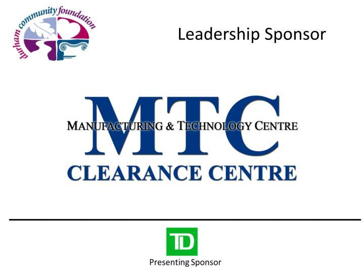 Leadership Sponsor