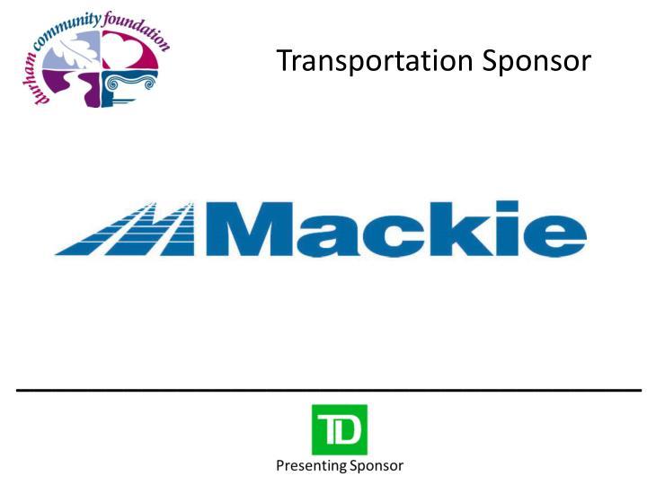 Transportation Sponsor