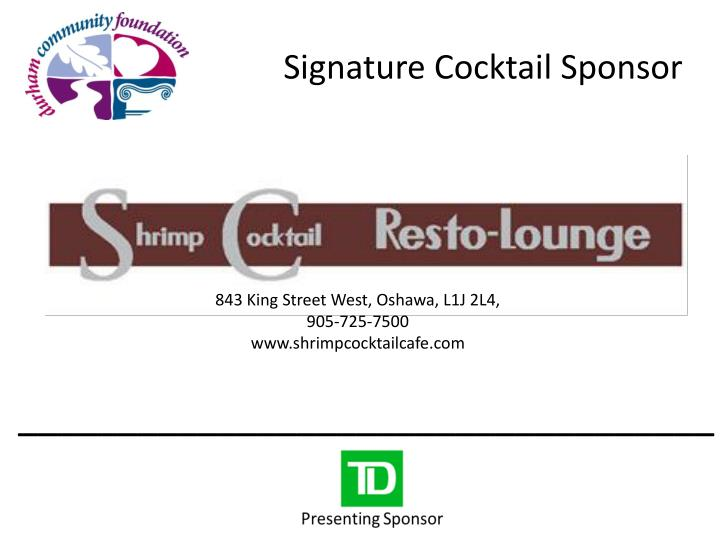Signature Cocktail Sponsor