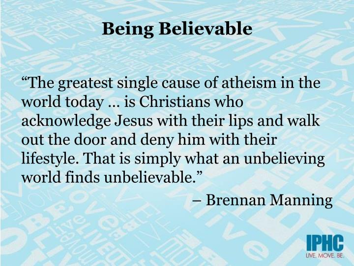 Being Believable