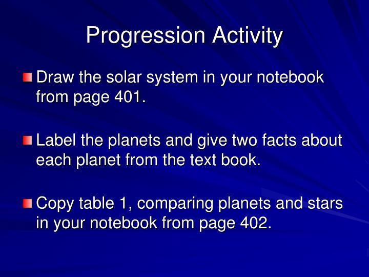 Progression Activity