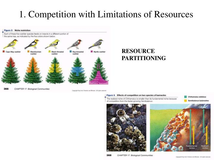 1. Competition with Limitations of Resources