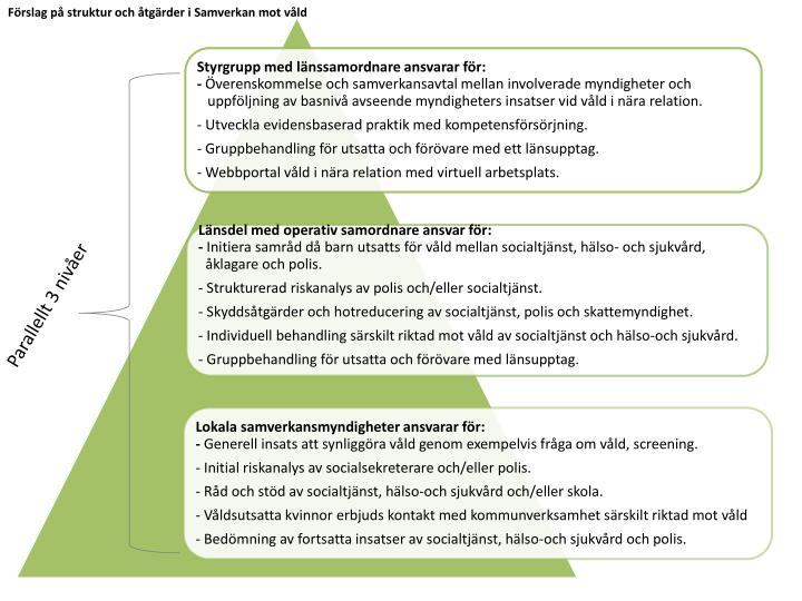 Förslag på struktur och åtgärder i Samverkan mot våld