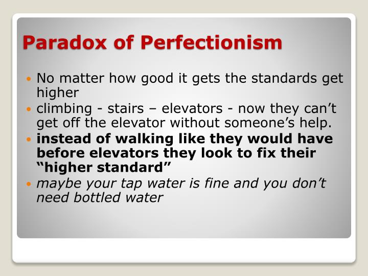 No matter how good it gets the standards get higher