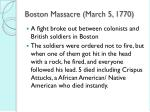 boston massacre march 5 1770