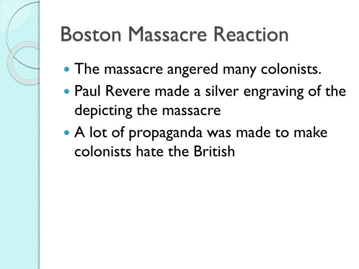 Boston Massacre Reaction