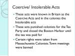 coercive intolerable acts