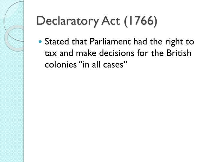 Declaratory Act (1766)