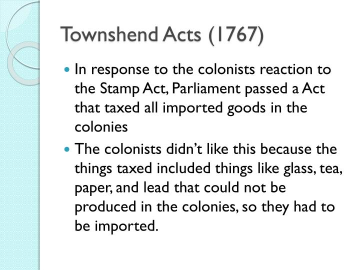 Townshend Acts (1767)
