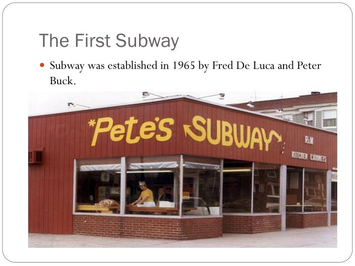 The first subway