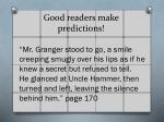 good readers make predictions