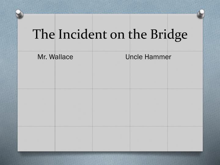 The Incident on the Bridge