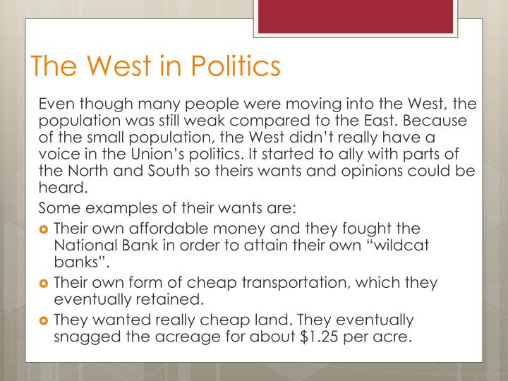 The West in Politics