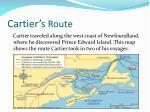 cartier s route