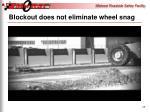 blockout does not eliminate wheel snag