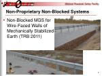 non proprietary non blocked systems