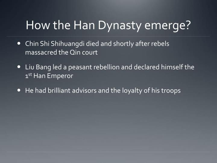 How the han dynasty emerge