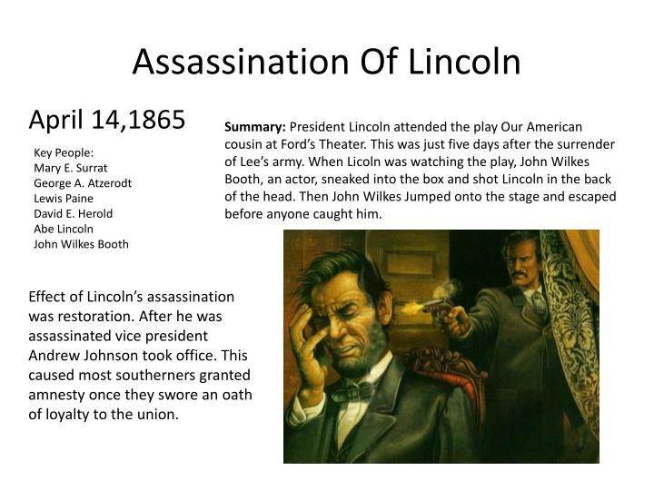 the assasination of abraham lincoln essay