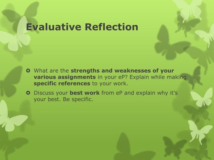 Evaluative Reflection