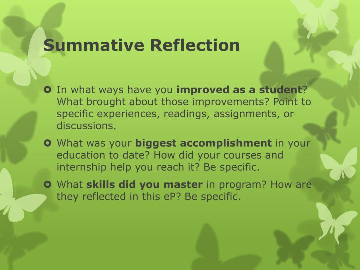 Summative Reflection