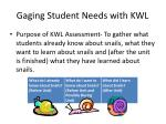 gaging student needs with kwl
