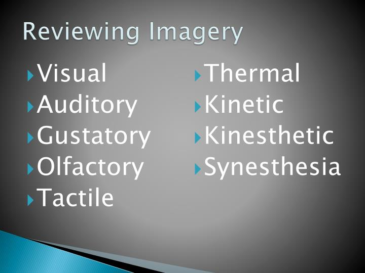 Reviewing imagery