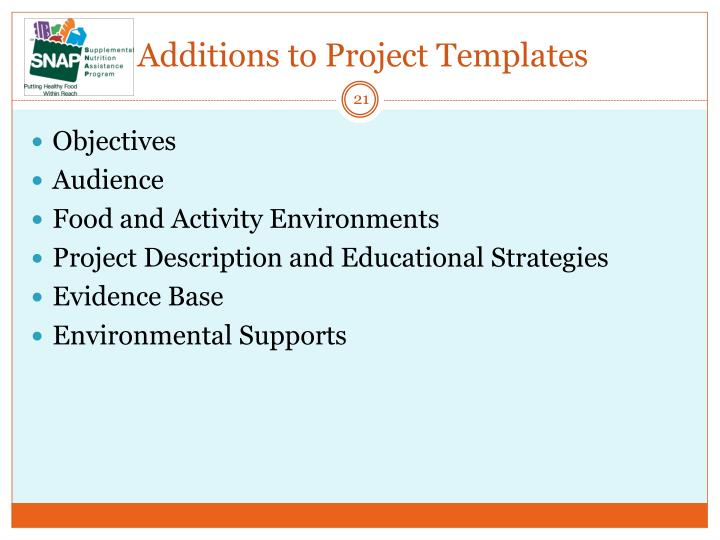 Additions to Project Templates