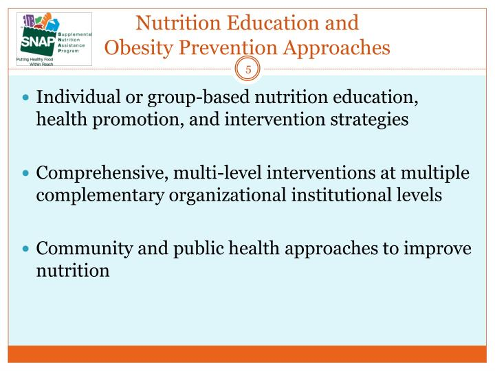 Nutrition Education and