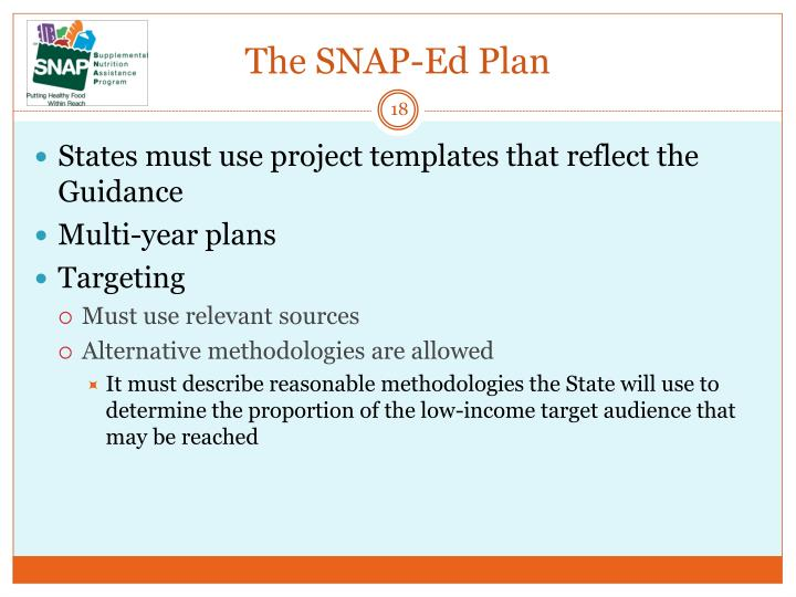 The SNAP-Ed Plan