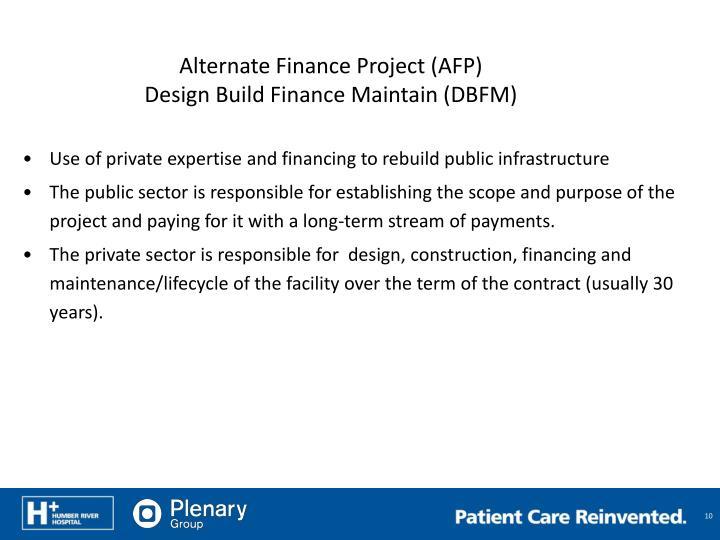 Alternate Finance Project (AFP)