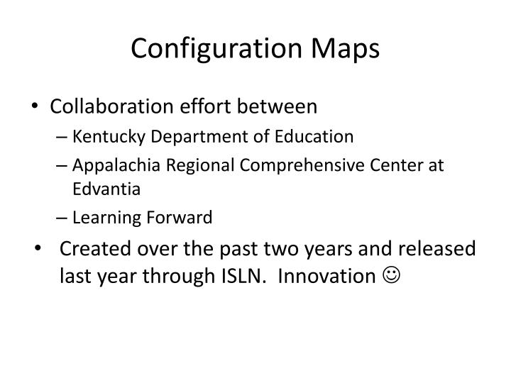 Configuration Maps