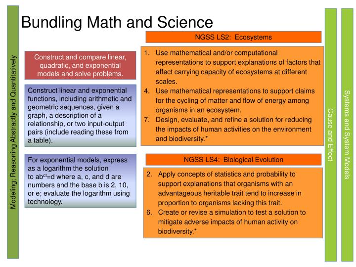 Bundling Math and Science