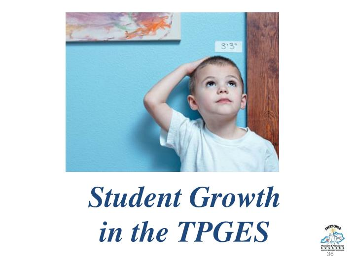 Student Growth              in the TPGES
